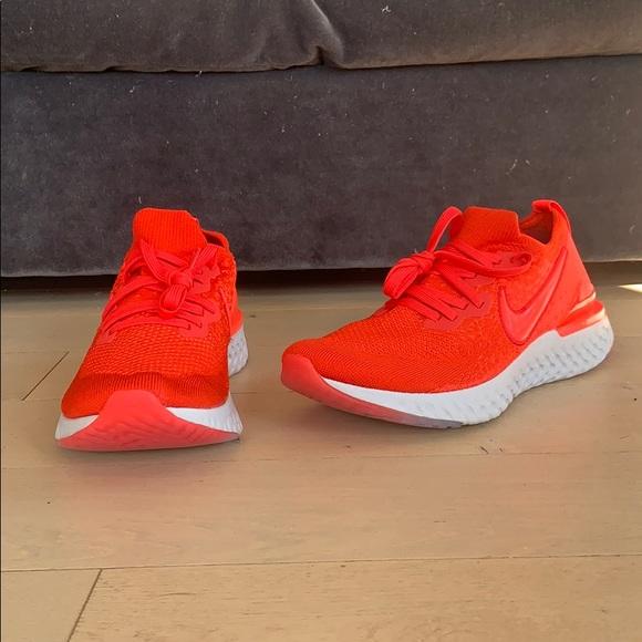 Nib Nike Epic React Flyknit 2 Chile Red